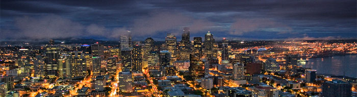 Lights of downtown Seattle