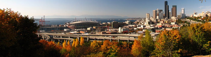 Autumn colors and downtown Seattle