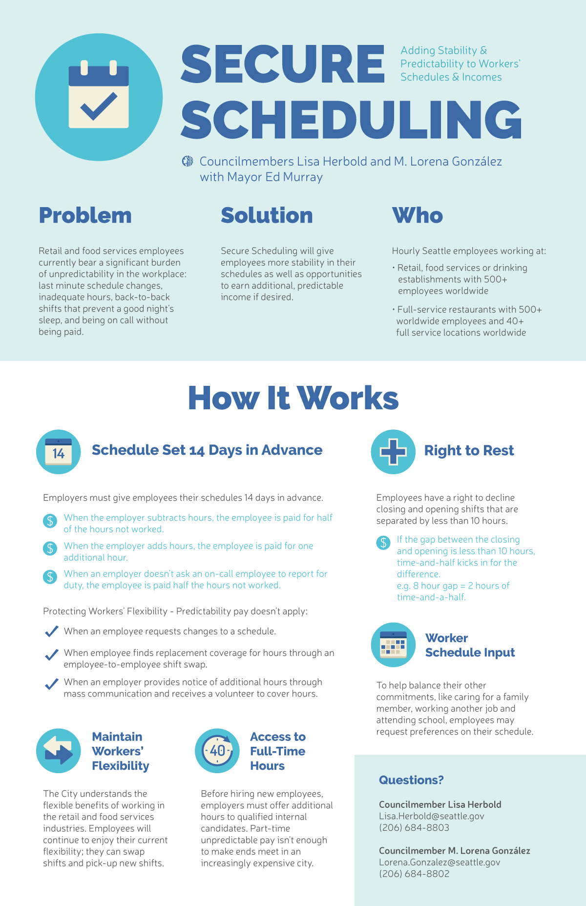Secure Scheduling Infographic