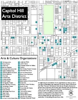 Map of Capitol Hill Arts District