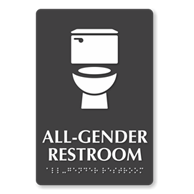 Example of All-Gender Restroom sign
