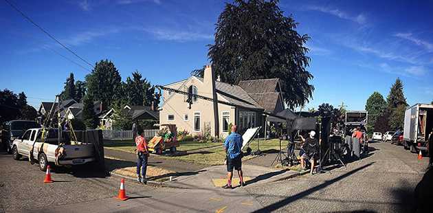 Film set in Ravenna neighborhood of Seattle