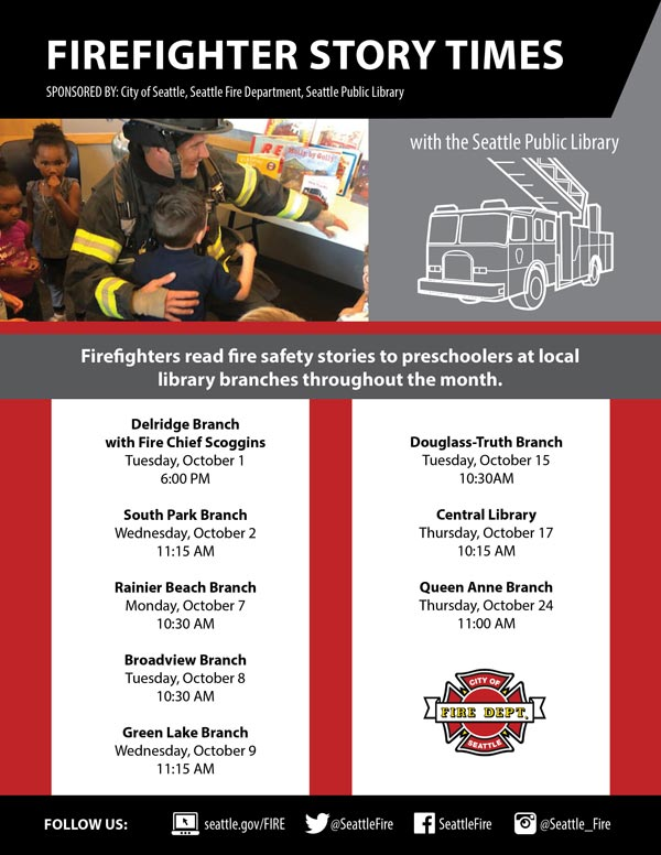 October Firefighter Story Times