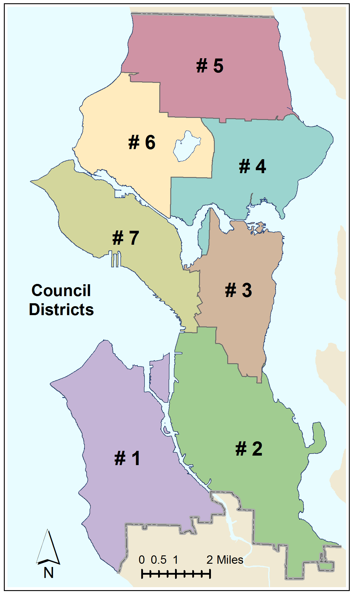 Seattle Council Districts Map