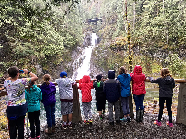 Photo of children touring the watershed
