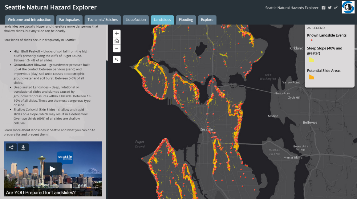 Seattle Hazard Explorer Map