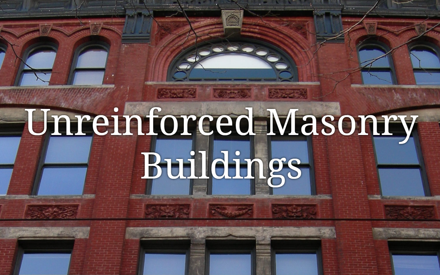 Unreinforced masonry building