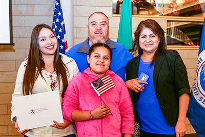 A family of new U.S. citizens.