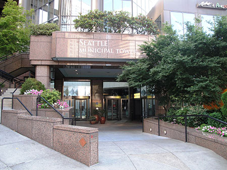 Seattle Municipal Tower Entrance