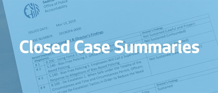 Closed Case Summaries