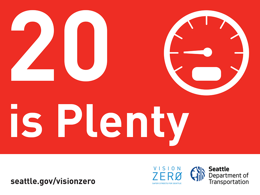 20 is plenty vision zero sign