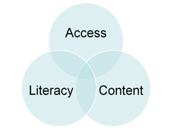 Digital Inclusion includes 3 areas: Access, Literacy and Content