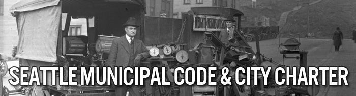 Seattle Municipal Code & City Charter