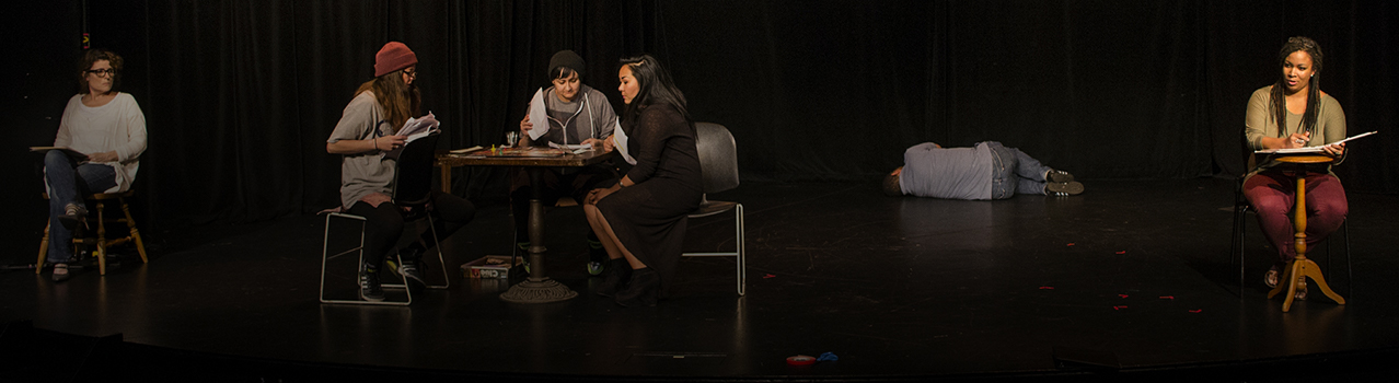 "Infinity Box Theatre presents ""Anomie"" by Courtney Meaker; Photo: Roy Arauz"