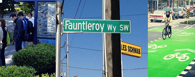 Site specific artworks for Fauntleroy Way