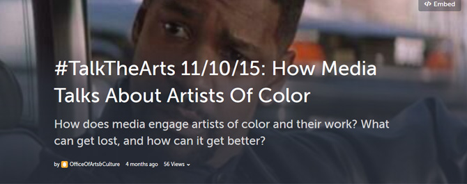 "How Media Talks About Artists Of Color <span class=""glyphicon glyphicon-new-window""></span>"