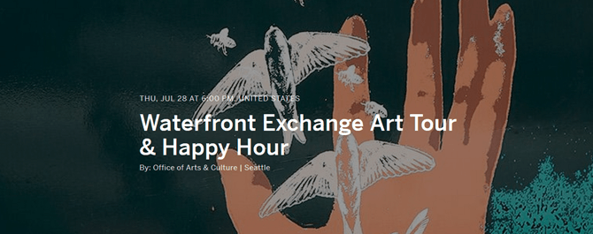 "Waterfront Exchange Art Tour & Happy Hour <span class=""glyphicon glyphicon-new-window""></span>"