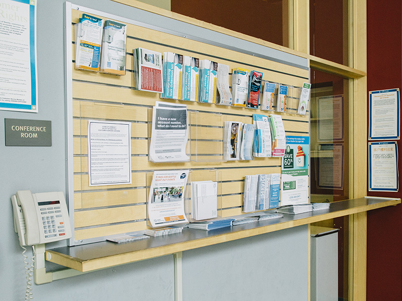 Brochures and fliers at Ballard Customer Service Center