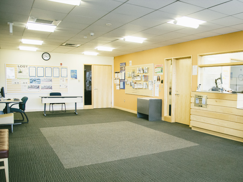 Inside the Lake City Customer Service Center