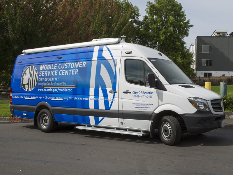 Picture of the Mobile Customer Service Center
