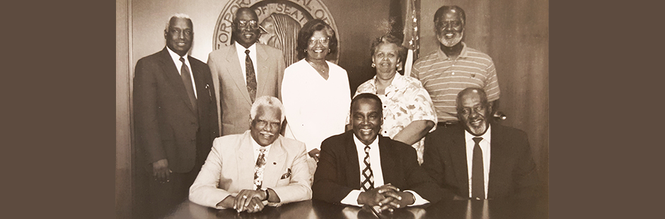 Mayor Norman B. Rice and members of the original Mayor's Council on African American Elders (circa 1995)