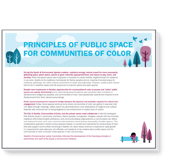 Cover image for Environmental Justice Committee's Principles of Public Space for Communities of Color