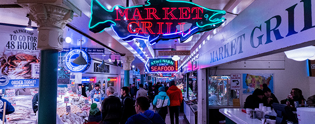 Photo of Pike Place Market businesses