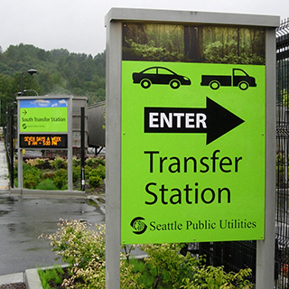 Photo of a transfer station