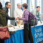 Photo of Seattle Public Utilities public table interaction