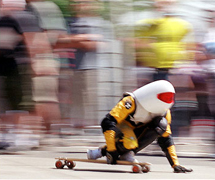 Image of speed skateboarder