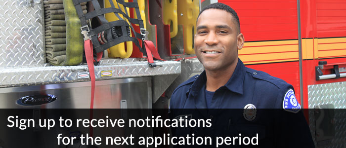 Sign up to receive notifications for the next application period