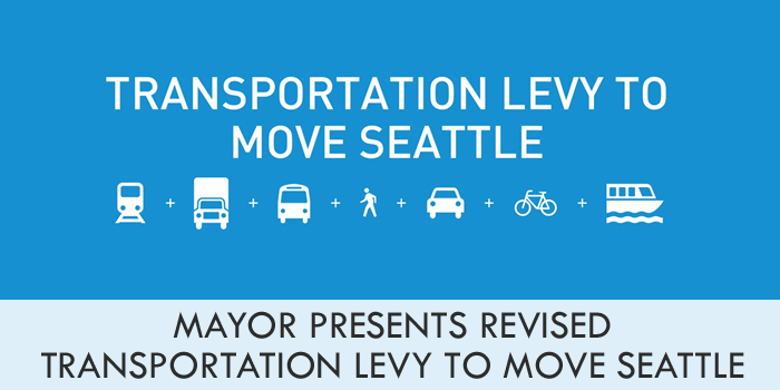 Mayor presents revised Transportation Levy to Move Seattle