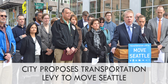 City proposes Transportation Levy to Move Seattle