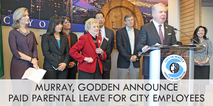 Murray, Godden announce Paid Parental Leave program for City of Seattle employees