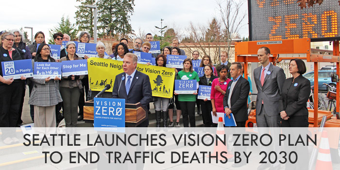 Seattle launches Vision Zero plan to end traffic deaths and injuries by 2030