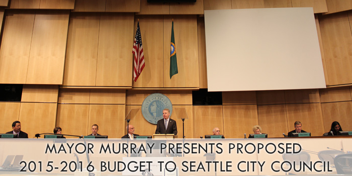 Mayor Murray presents 2015-16 proposed budget to Seattle City Council