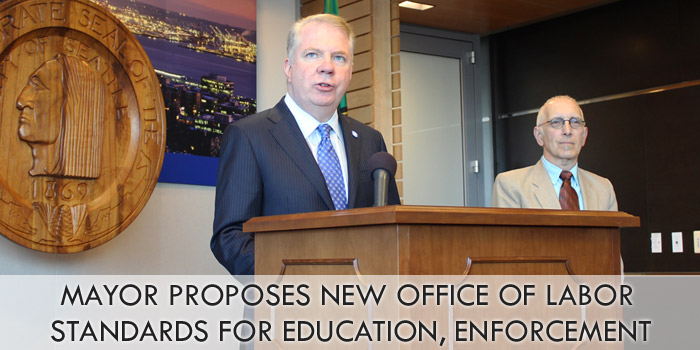 Mayor proposes new Office of Labor Standards for education, enforcement