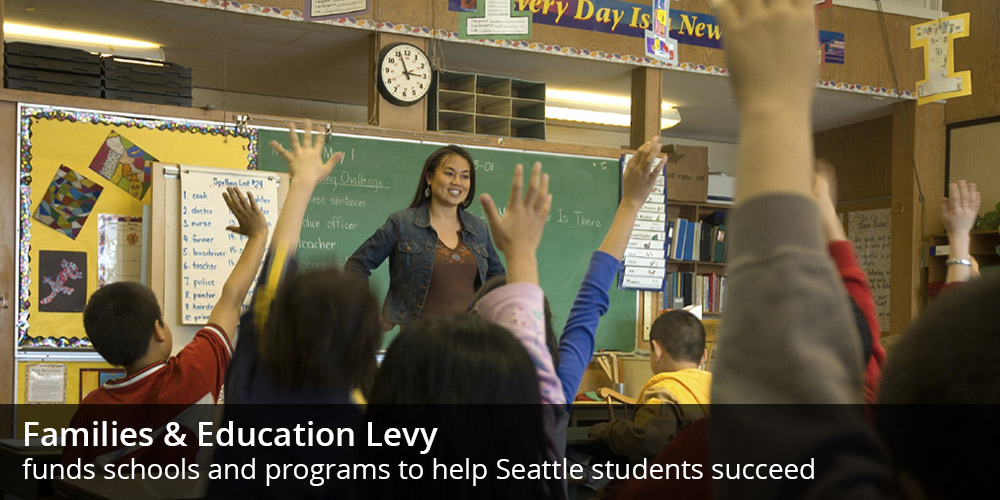 Families & Education Levy funds schools and programs to help Seattle students succeed