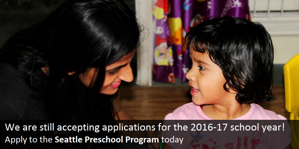 We are still accepting applications for the 2016-17 school year! Apply to the Seattle Preschool Program today
