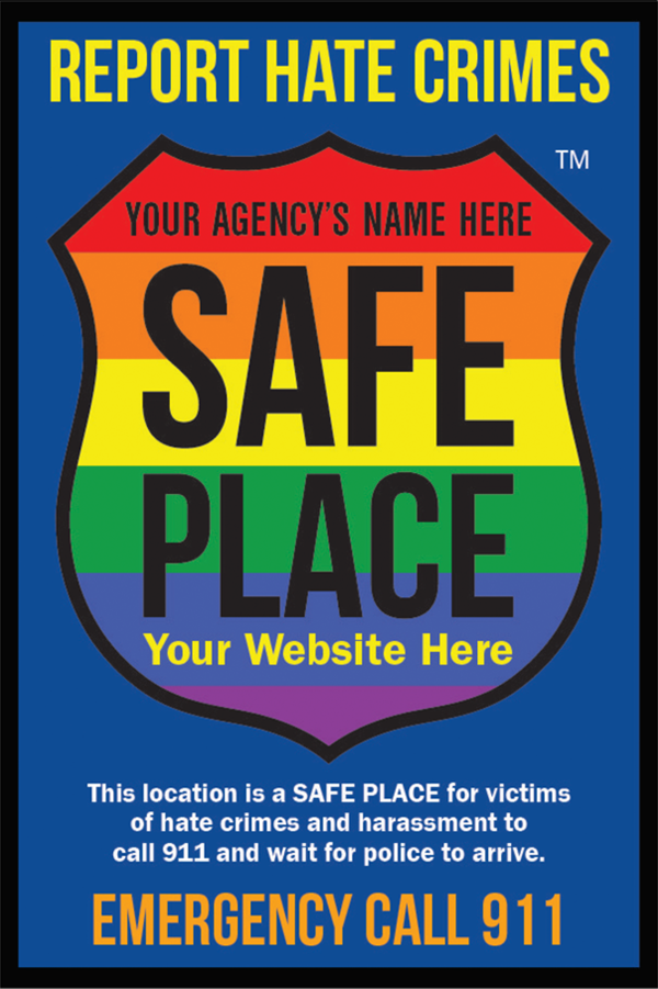 Sample of what a Safe Place Decal looks like