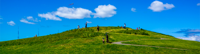 Kite hill in Gas Works Park