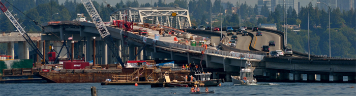 New SR-520 bridge construction photo