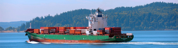 Shipping boat in Puget Sound photo