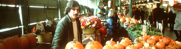 Pumpkin vendor at Pike Place Market 1978 photo