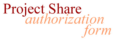 Project Share Authorization Form
