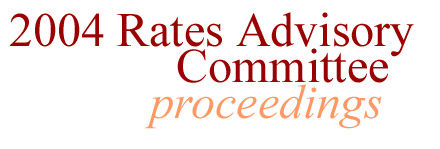 Rates Advisory Committee