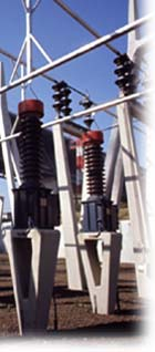 Photo of substation equipment.