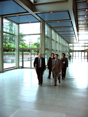 Superintendent Carrasco tours the Convention Center