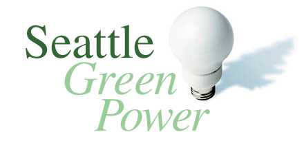 green power title with bulb logo