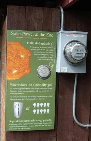 Interpretive signage and solar meter.